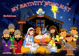 Плакат &; my nativity word mat&; (англ)